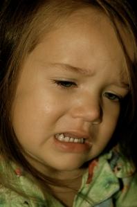 Sad face... mommy's gone...